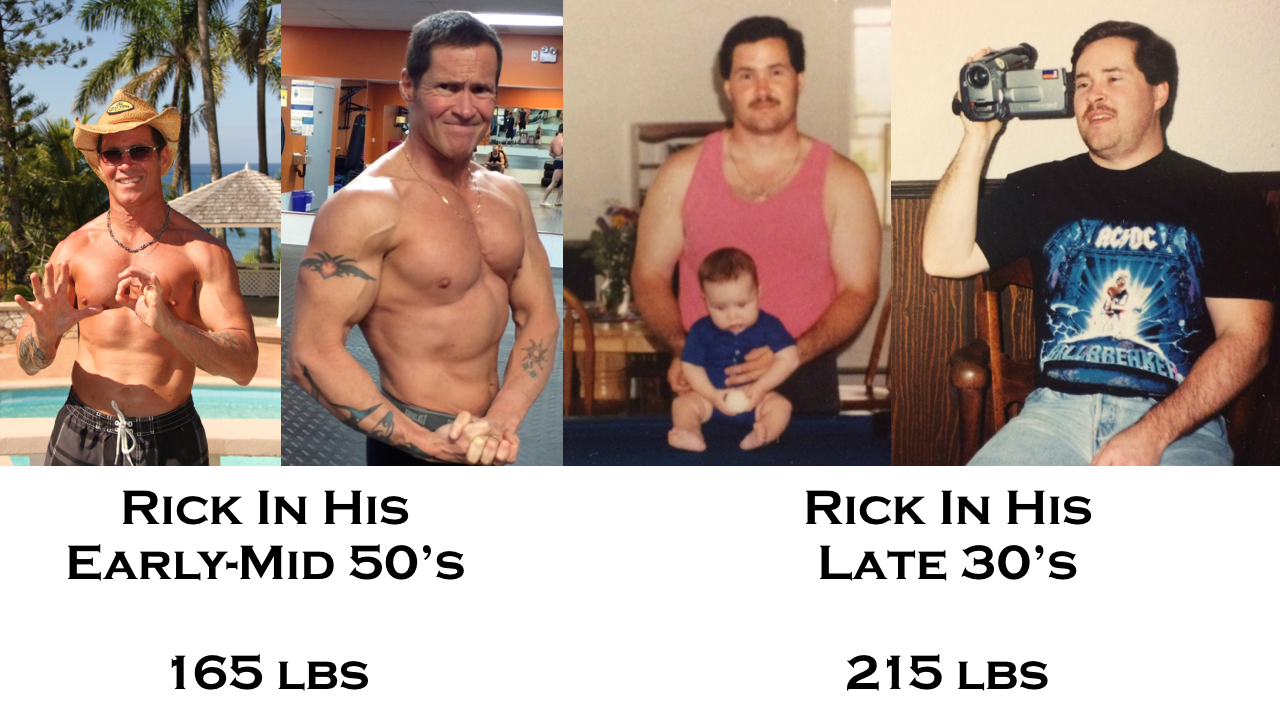 Ripped over 50 Rick's physique transformation