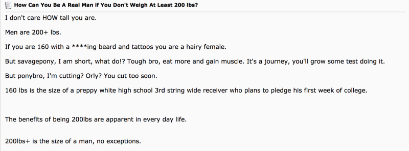 Do you have to weigh 200 pounds to be considered a man