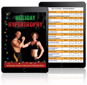 Holiday Hypertrophy Workout Plan printable workout log sheets